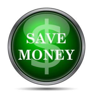 Save money icon. Internet button on white background