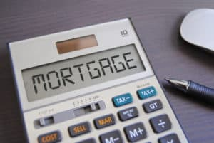 hand calculator with Mortgage showing in the calculation screen